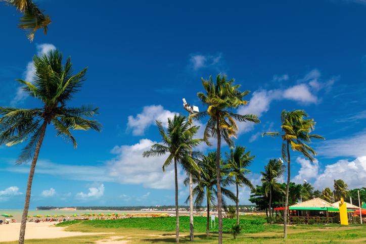 Praia em João Pessoa na Paraíba